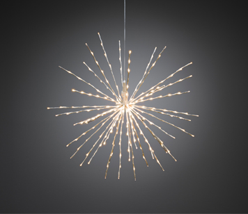 Konstsmide Twinkling LED White Ball Of Twigs Decoration - 2897-242EE