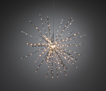 Konstsmide Twinkling LED Silver Ball Of Twigs Decoration - 2897-343EE