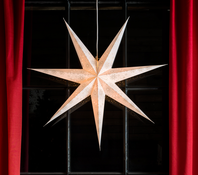 Konstsmide 7 Point Paper Star Ceiling Light (780mm), White - 2979-260 None