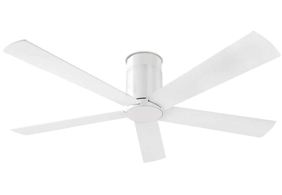 Leds C4 'Rodas' IP20 Remote Control Ceiling Fan, White Finish - 30-1964-CF-CF