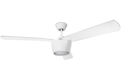 Leds C4 'Ceos' IP20 LED Remote Controlled Ceiling Fan, Bright White Finish - 30-3250-CF-M1V1
