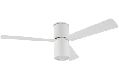 Leds C4 'Formentera' IP20 Remote Controlled Ceiling Fan, White Finish & Opal Acrylic Diffuser - 30-4393-CF-M1