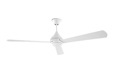 Leds C4 'Tupai DC' IP20 Remote Controlled Medium Ceiling Fan, Bright White Finish - 30-4866-CF-CF