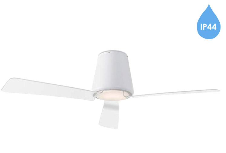 30 ceiling fan going round round leds c4 garbi ip44 remote controlled ceiling fan with led light matt white finish 30537814f9 light