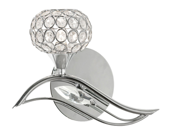 Oaks Lighting Esmee Right Hand Wall Light, Chrome Finish - 3050/1 R CH