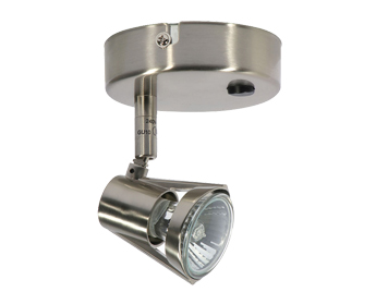 Oaks Lighting Romore Switched Spotlight, Antique Chrome Finish - 3101 SW AC