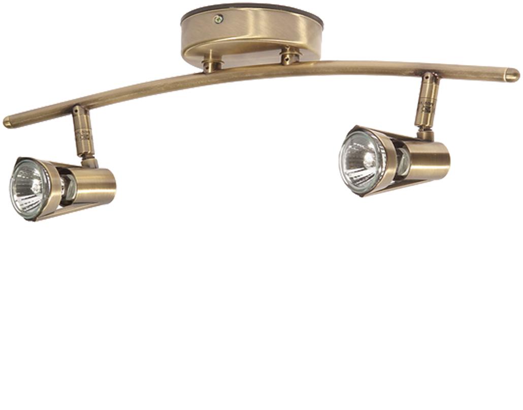 Double spot lights from easy lighting oaks lighting romore 2 light ceiling spotlight antique brass 3102 b ab aloadofball Choice Image