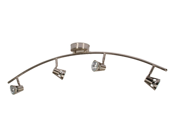 Oaks Lighting Romore 4 Light Bar Ceiling Spotlight, Antique Chrome Finish - 3104 B AC