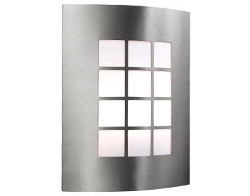 Searchlight 1 Light Outdoor Wall Light, Stainless Steel - 3140SS