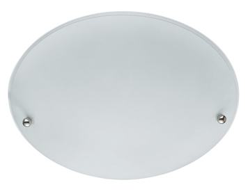 Searchlight 2 Light Flush Ceiling Light, White Finish With Frosted Glass Shade - 3165-30