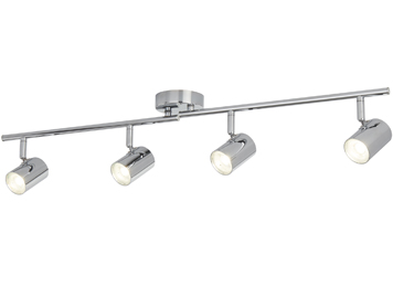 Searchlight Rollo 4 Light Cylinder Head LED Split Bar Light, Chrome Finish - 3174CC