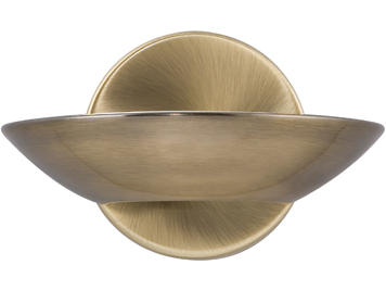 Searchlight 1 Light LED Uplighter Wall Light, Antique Brass Finish With Frosted Glass Diffuser - 3209AB