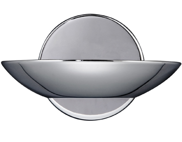 Searchlight 1 Light LED Uplighter Wall Light, Chrome Finish With Frosted Glass Diffuser - 3209CC