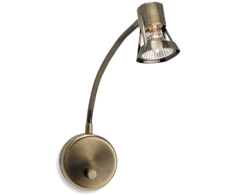 Wall Lamps With Dimmers : Firstlight Roman Flexi Single Spot Wall Light With Dimmer Switch, Brushed Steel - 3215BS from ...