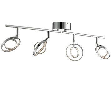 Searchlight Neptune 4 Light LED Ceiling Bar Spotlight, Chrome Finish - 3284CC