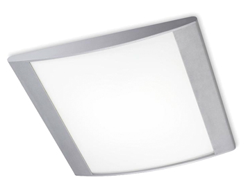 Leds C4 Alpen (360mm x 350mm) Ceiling Light, Grey With Opal Diffuser - 332-GR