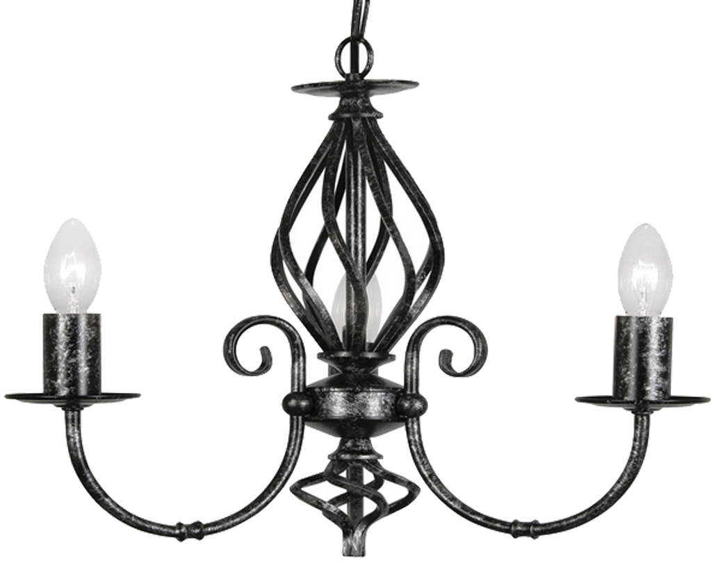 2 and 3 arm ceiling lights from easy lighting oaks lighting tuscany 3 light ceiling light black silver 33803 aloadofball Choice Image