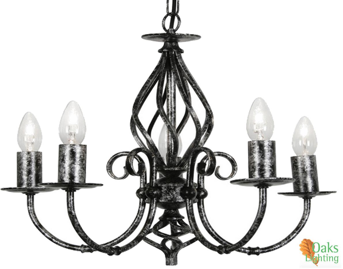 oaks lighting  u0026 39 tuscany u0026 39  5 light ceiling light  black