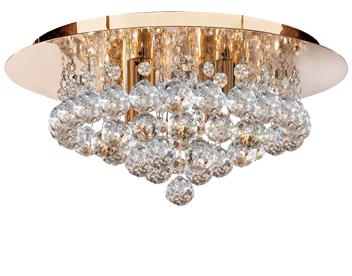 Searchlight hanna 6 light crystal ceiling light polished brass searchlight hanna 4 light crystal ceiling light polished brass 3404 4go mozeypictures Images