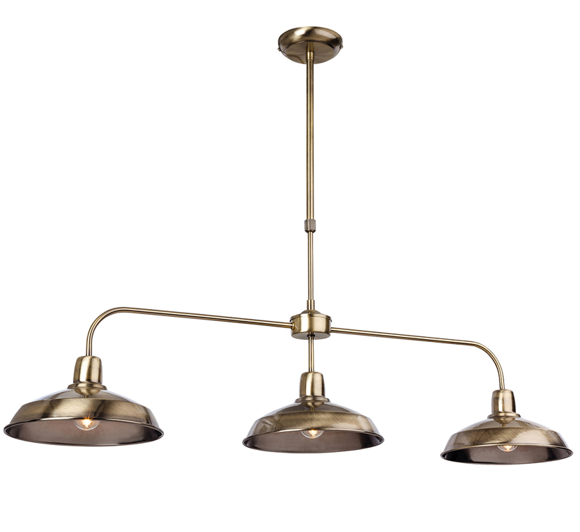 Firstlight Lounge 3 Light Ceiling Pendant Antique Brass