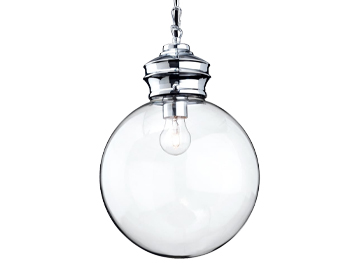 Firstlight Omar Single Light Ceiling Pendant, Chrome Finish With Clear Glass - 3410CH