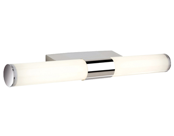 Firstlight Vega LED White Integrated Wall Light, Chrome Finish With Polycarbonate Diffuser - 3415CH