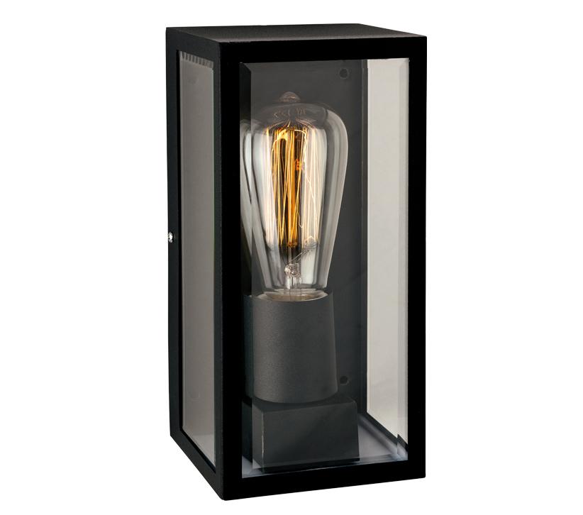 Firstlight Dallas IP44 Single Outdoor Wall Light, Black Finish - 3424BK from Easy Lighting