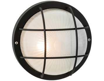 Firstlight Court Single Outdoor Wall/Ceiling Light, Black Finish With Frosted Glass - 3425BK