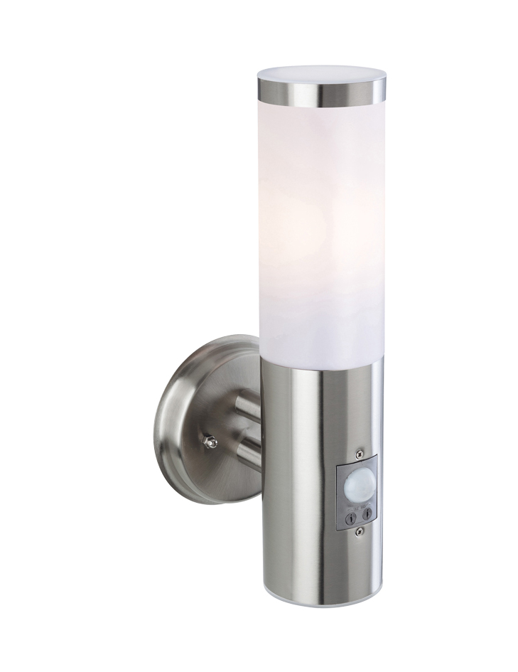 Firstlight plaza ip44 single pir outdoor wall light stainless firstlight plaza ip44 single pir outdoor wall light stainless steel finish 3431st mozeypictures Image collections