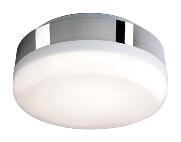 Firstlight Mini Hydro 32 White LED Light Flush Ceiling Fitting, Chrome Finish With Polycarbonate Diffuser - 3432CH
