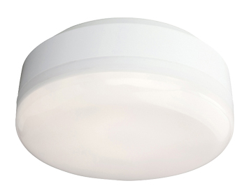 Firstlight Mini Hydro 32 LED Light Flush Ceiling Fitting, White Finish With Polycarbonate Diffuser - 3432WH