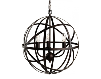 Firstlight Castle 3 Light Circular Ceiling Pendant, Antique Brown Finish - 3437ABN