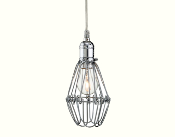 Firstlight Arcade Single Light Ceiling Pendant, Polished Chrome Finish - 3446CH
