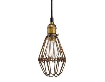 Firstlight Arcade Single Light Ceiling Pendant, Rustic Brown Finish - 3446RB