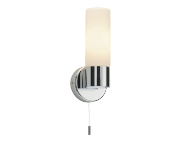 Endon Pure 1 Light Wall Light, Chrome Plate & Matt Opal Duplex Glass Finish - 34483