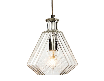 Firstlight Decanter Single Light Ceiling Pendant, Chrome Finish With Glass Shade - 3448CH