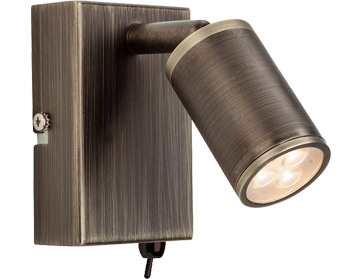 Firstlight Orion 3 Light LED Integrated Switched Wall Lamp, Bronze Finish - 3453BZ