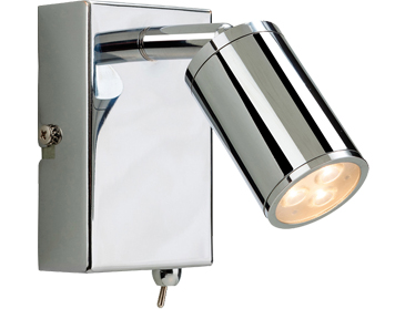 Firstlight Orion 3 Light LED Integrated Switched Wall Lamp, Polished Chrome Finish - 3453CH