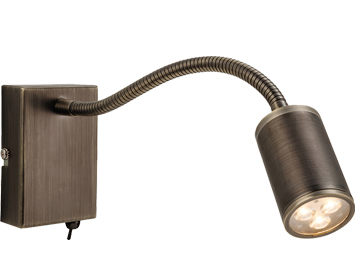 Firstlight Orion 3 Light LED Integrated Switched Wall Lamp, Bronze Finish - 3454BZ