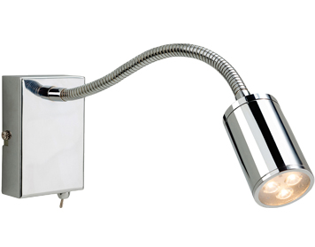Firstlight Orion 3 Light LED Integrated Switched Wall Lamp, Polished Chrome Finish - 3454CH