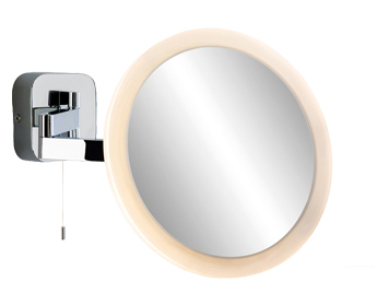 Firstlight Magnifying 120 LED Mirror Switched Wall Light Fitting, Chrome Finish - 3460CH