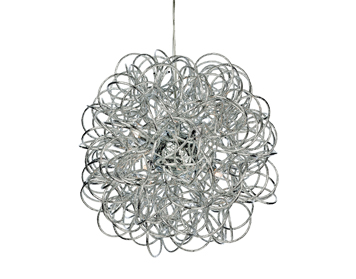 Firstlight Stella 6 Light Ceiling Pendant, Chrome Finish - 3476CH
