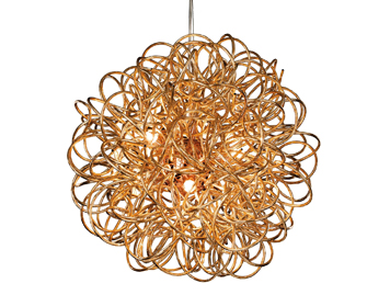 Firstlight Stella 6 Light Ceiling Pendant, Copper Finish - 3476CP