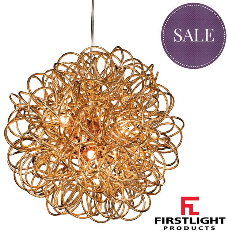 Firstlight Stella 6 Light Ceiling Pendant Copper Finish
