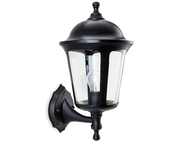 Firstlight Boston 1 Light Outdoor Wall Lantern, Black Finish - 3480BK
