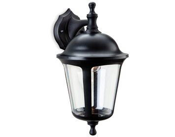 Firstlight Boston 1 Light Outdoor Downward Wall Lantern, Black Finish - 3482BK