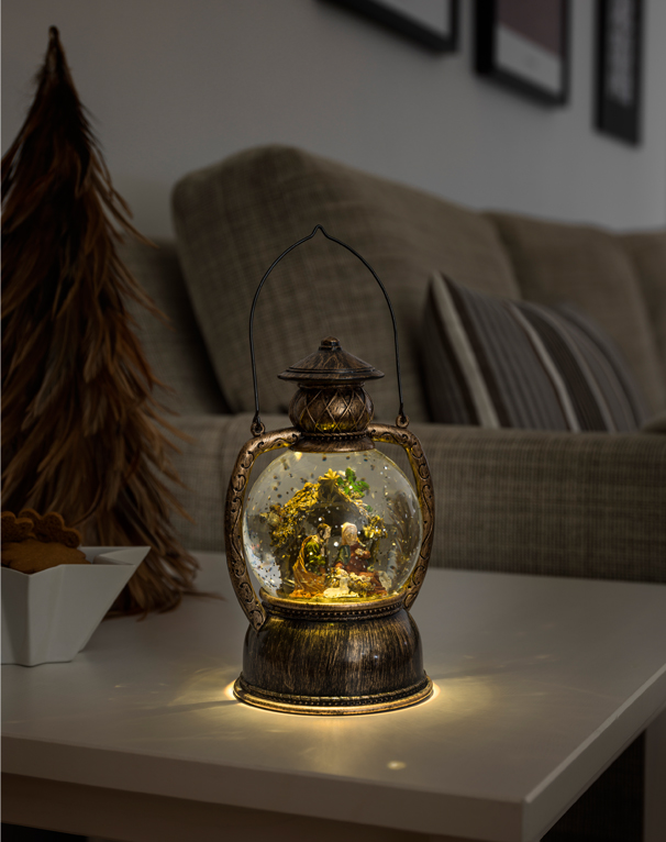 Konstsmide Indoor Water Filled Lantern with Nativity and Warm White LED's - 3499-000 None
