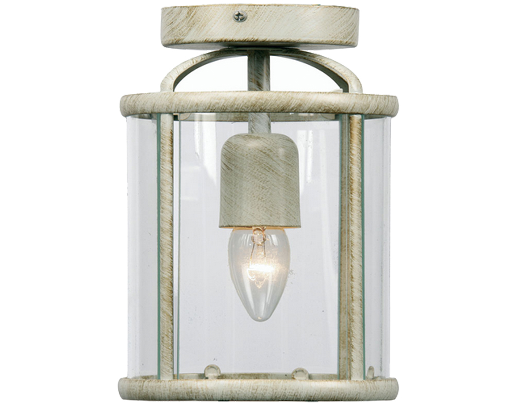 Oaks Lighting Fern Flush Fitted Lantern, Cream Gold Finish - 351 FL CG