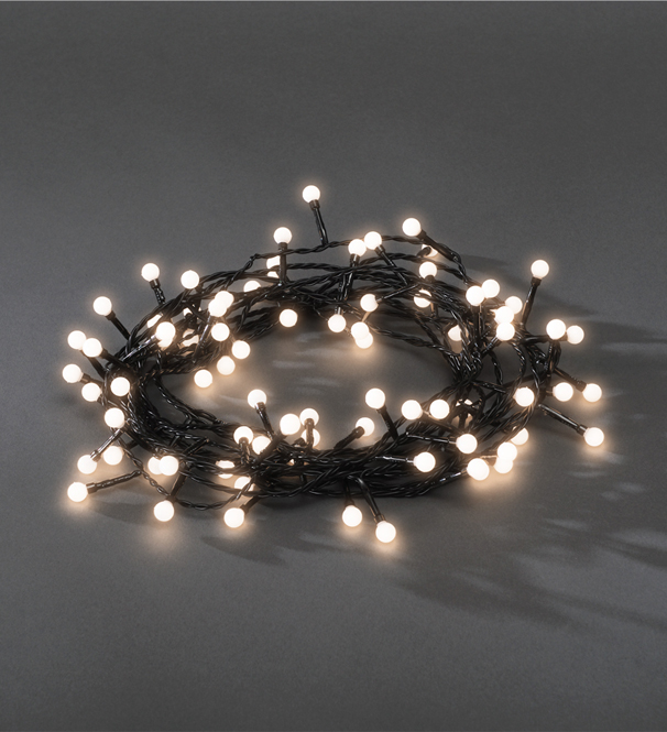 Konstsmide 80 White LED Berry Christmas Tree Lights - 3691-107EE None