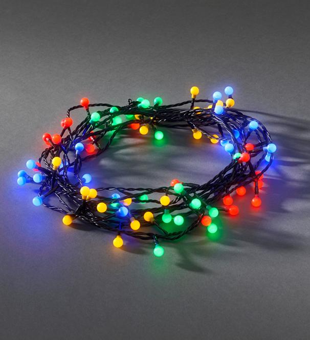 Konstsmide 80 Multicoloured LED Berry Christmas Tree Lights - 3691-507EE from Easy Lighting